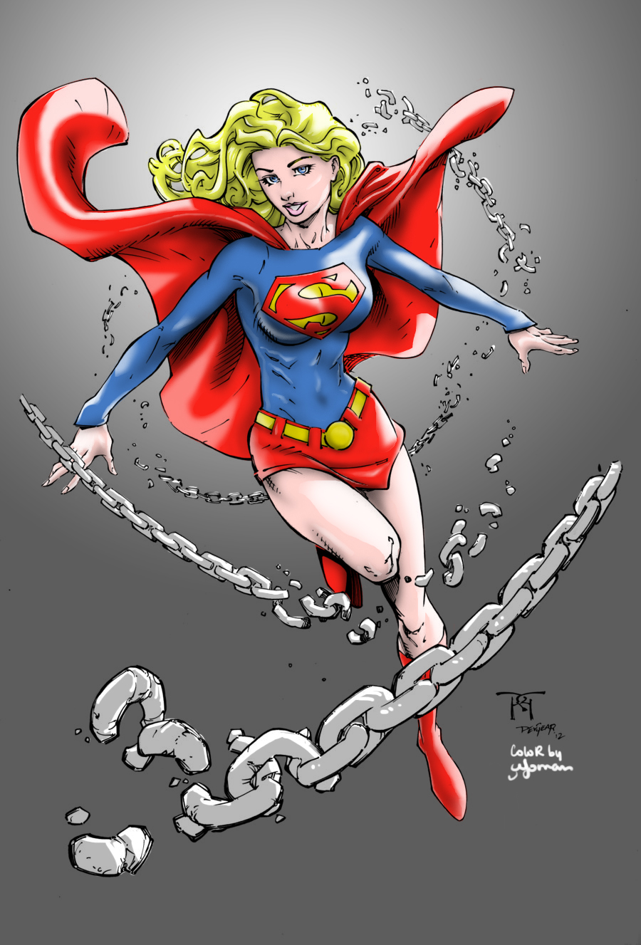 Supergirl colors by cyomAn