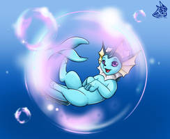Day 1 - Vaporeon by LunnaHowell