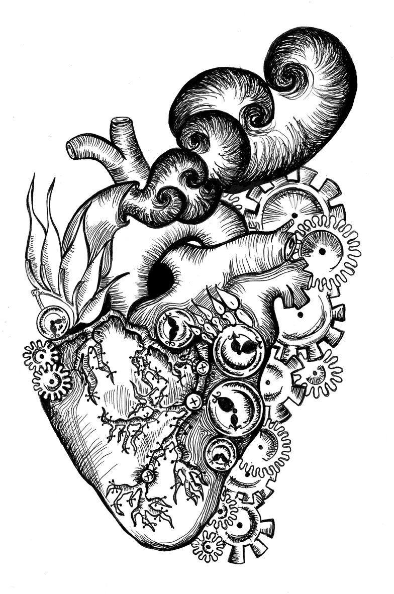 Steampunk Heart Drawings Images amp Pictures Becuo