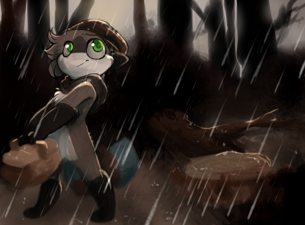 it's raining by Loopy44