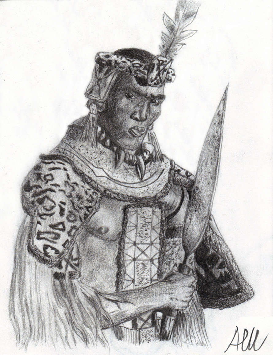 African Zulu Warrior Drawing Zulu Warrior Tattoo