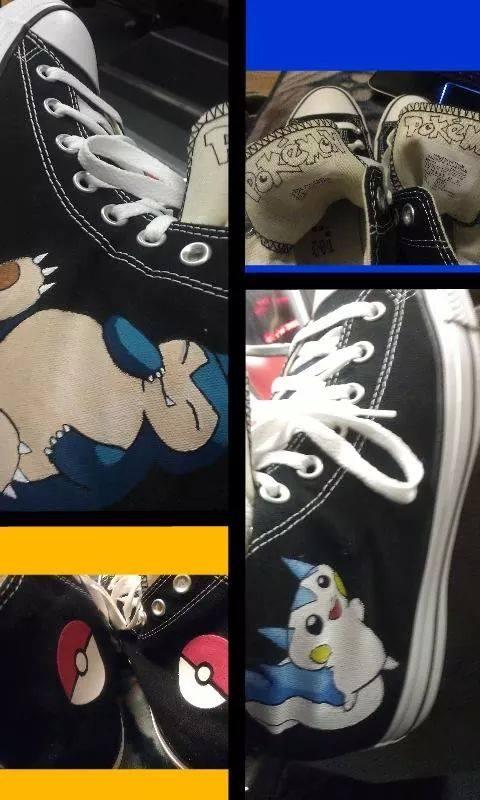 Snorlax and Pachirisu Shoes by Modernerd