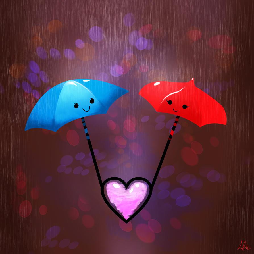 Valentine Umbrellas by Modernerd
