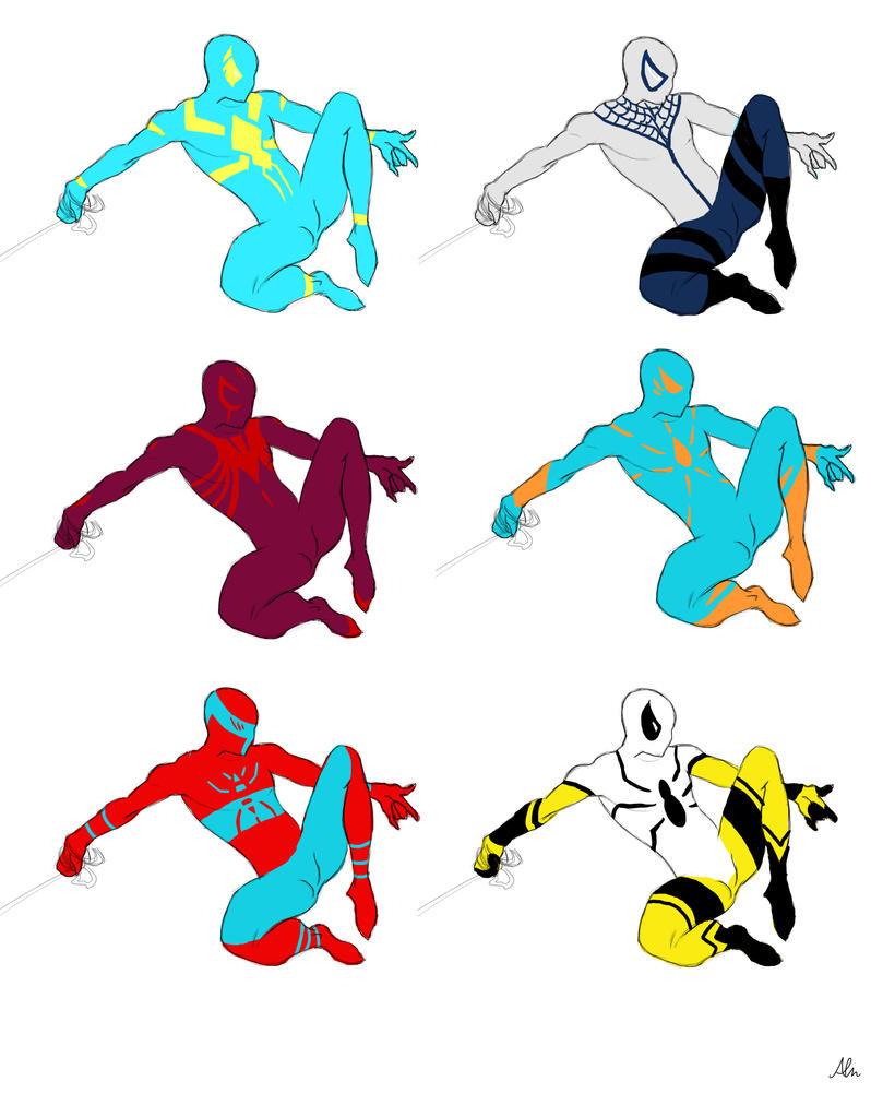 Spidey Suit concepts by Modernerd