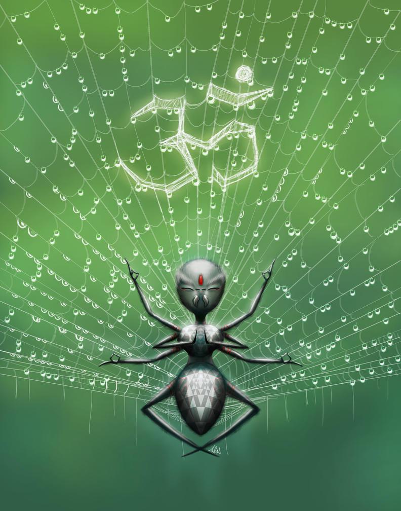 Blissful Spider by Modernerd