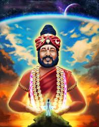 H.H. Paramahamsa Sri Nithyananda Swami by Modernerd