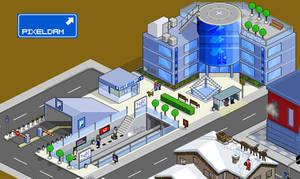 Pixeldam City Hall and subway by bgr
