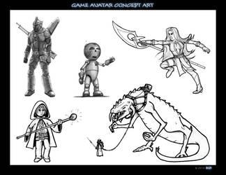 Game avatar concept art