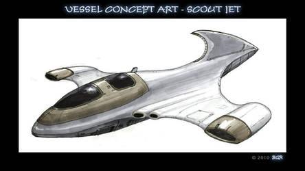 Scout jet - vessel concept art