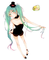 Miku Hatsune Render - Vocaloid by HinamoriOfficialAmu