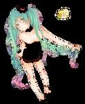 Miku Hatsune Render - Vocaloid