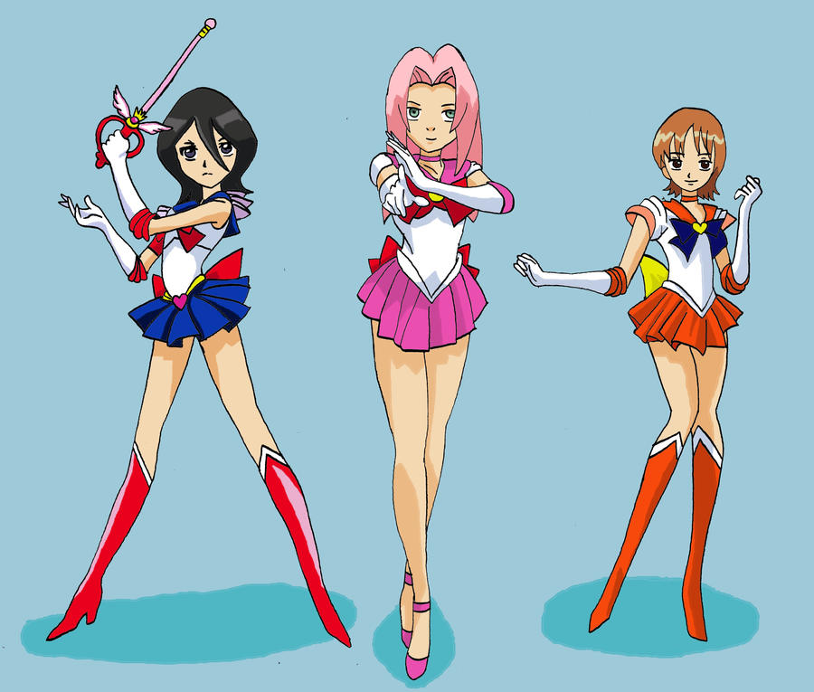 sailor jump heroines by giuli1289