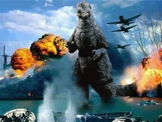 Godzilla 1985 @ Pearl Harbor by Pyro-raptor