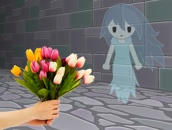 Offering flowers spooky s house of jumpscares by pyro raptor on