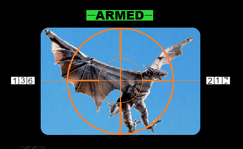 Gyaos aimed and targeted with anti aircraft guns by Pyro-raptor