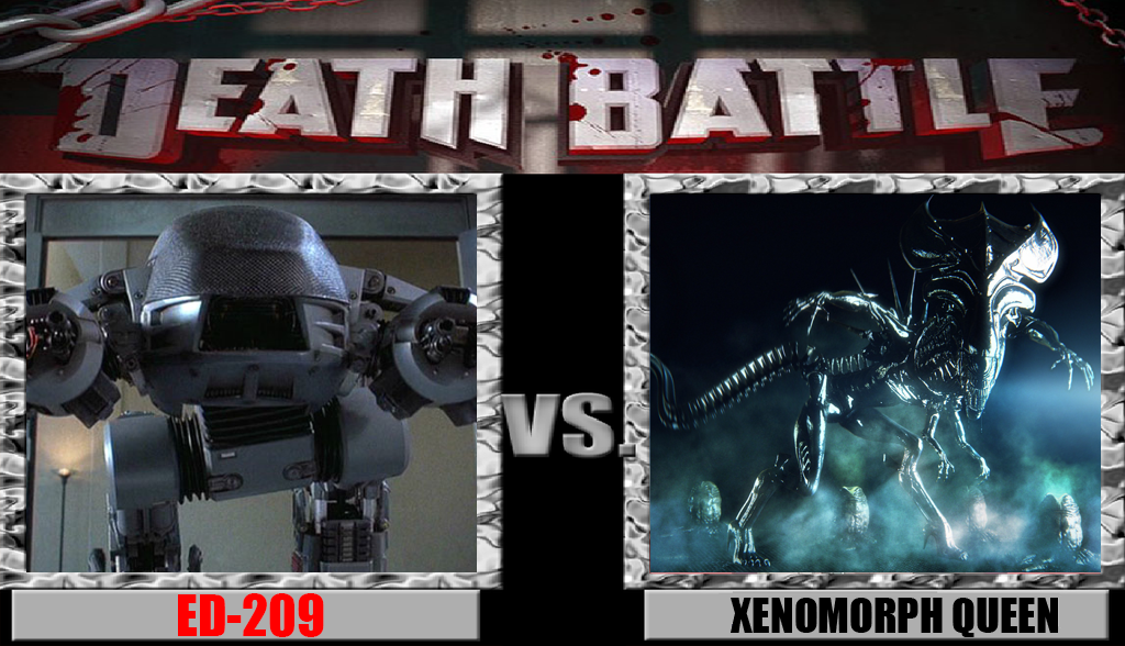 ED-209 vs Xenomorph Queen by Pyro-raptor
