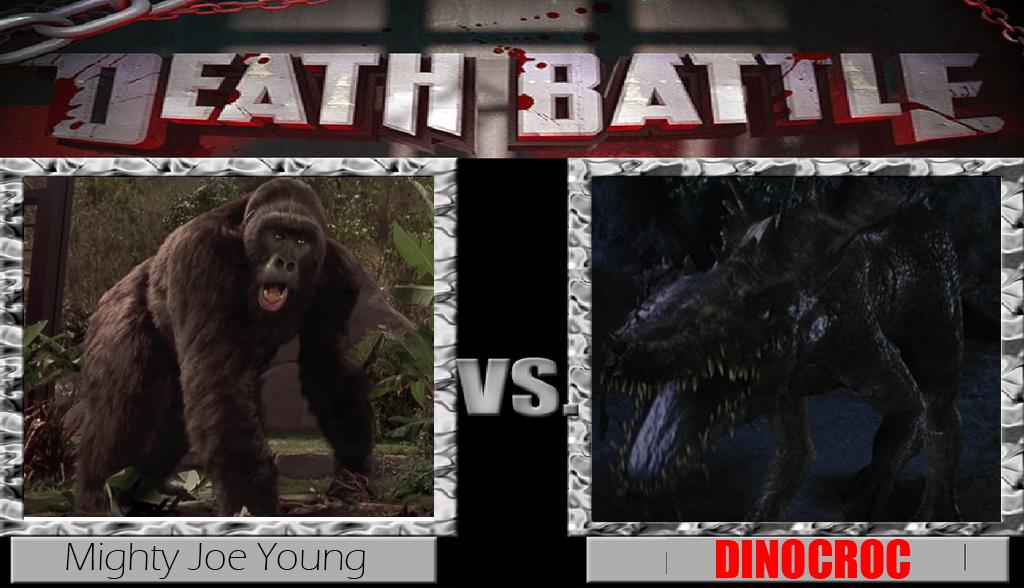 Mighty Joe Young vs Dinocroc by Pyro-raptor