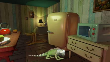 The green iguana @ Hello Neighbour