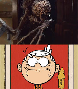 Lincoln's reaction to the monster in a closet