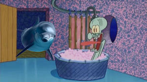 Ecco the Dolphin drops by Squidward's house