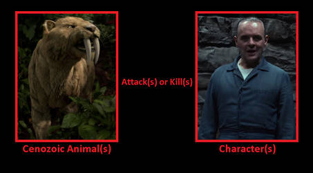 What if the Sabretooth cat attacks Hannibal Lecter by Pyro-raptor