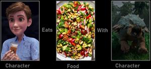 Ben Pincus eats Vegan summer salad with Bumpy.