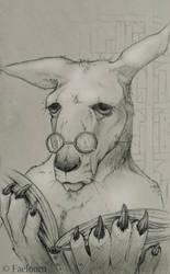 Kangaroo Librarian by Faelourn
