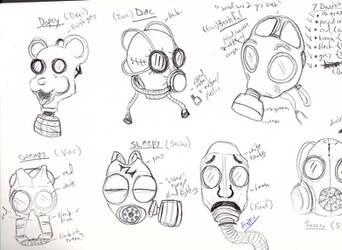 Mein Schnee dwarf mask designs