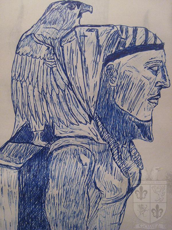 Horus and the Pharaoh. by Danimal2033