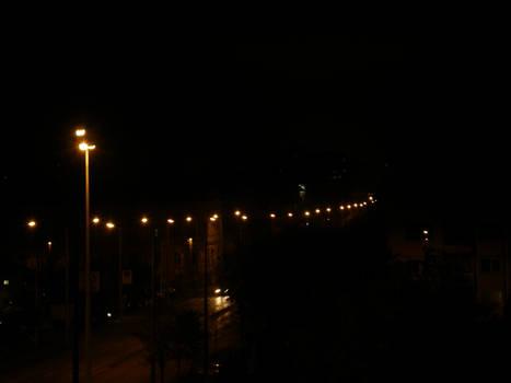 Queue of lights