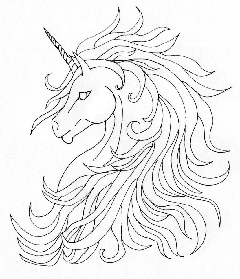 Unicorn tattoo by sphinx47 on deviantart for Simple unicorn tattoo