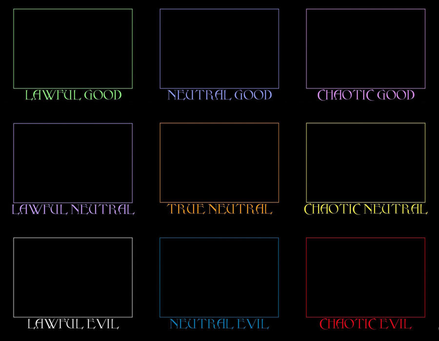 Character Alignment Chart by ChopSilverBlood