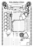 La feuille de personnage by etherneofzula