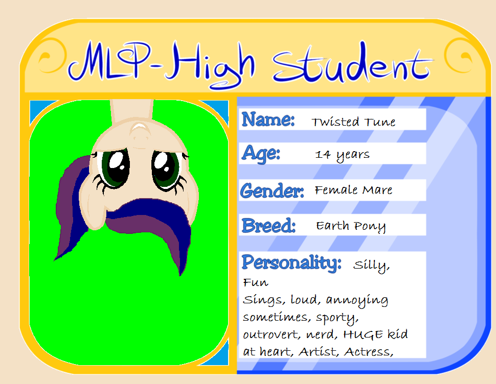My MHS(Manehattan High School) I.D.! by chickenface224