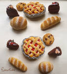 Polymer Clay Baked Goods by forestfolke