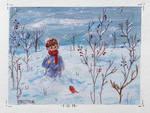 little boy in the snow
