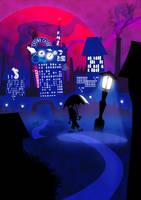 Lone Nightwalk by Samuel-SILVER