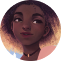 2ème portrait de ma série de filles aux cheveux décolorés o/  C'est la première fois que je m'attaque à des cheveux frisés !