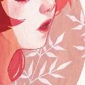 52 weeks illustration challenge #21 : Red (plutôt rose pour moi :p) Dur dur la gouache, je pense que je l'utilise de manière trop dense ! :/