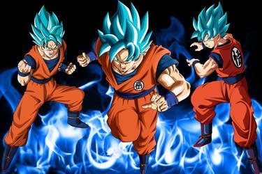 Dragonball Super: Super Saiyan Blue Goku by blakeblaise