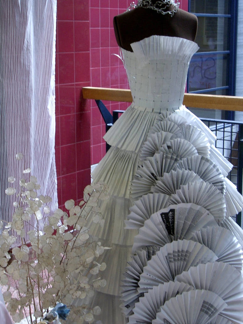 Paper couture gown