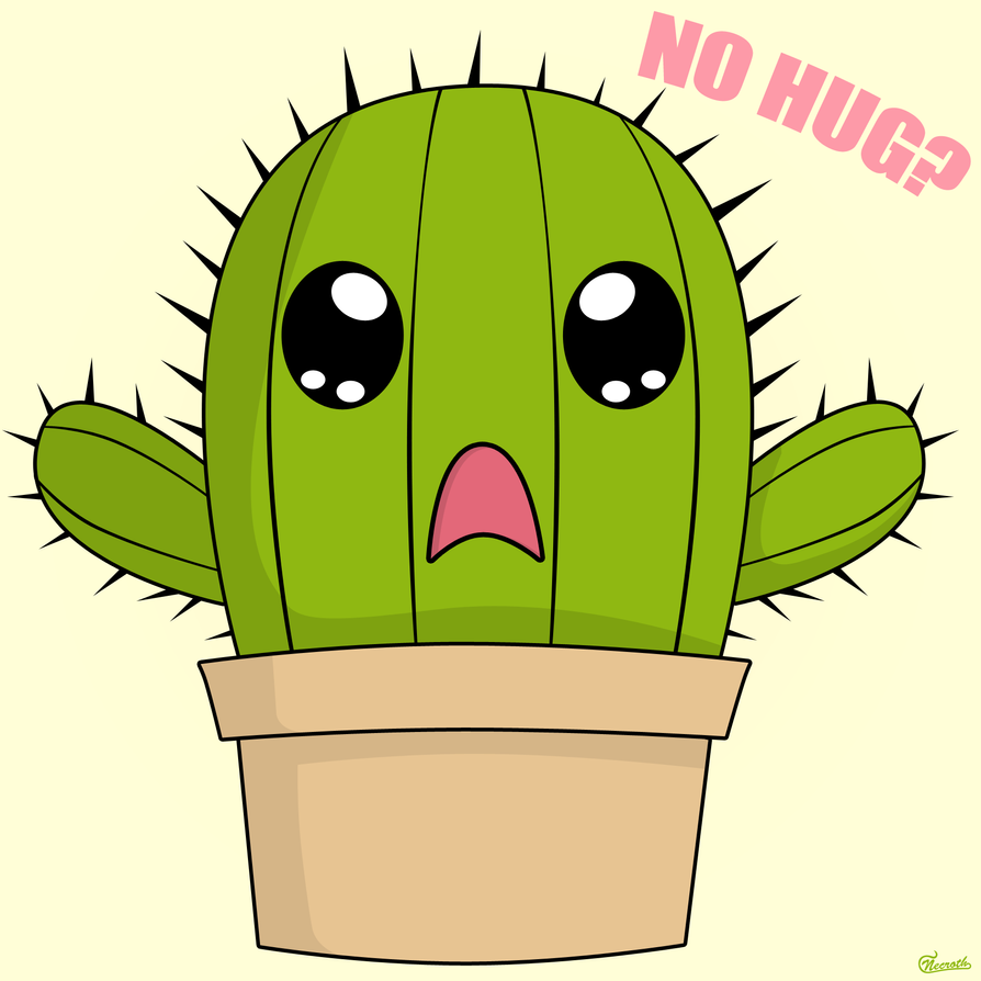 Sad Love Wallpaper cartoon : cactus Hug by Necrothic on DeviantArt