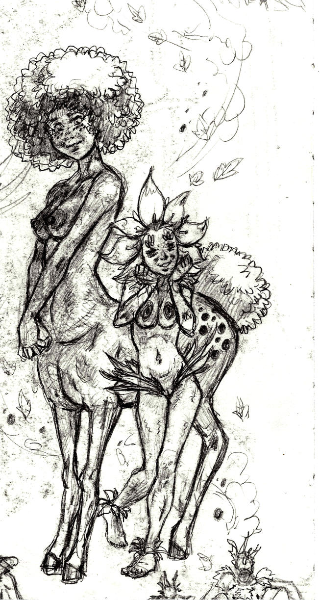 New n'tr and her sister dandy lion Sketches 15 by BlackZarak