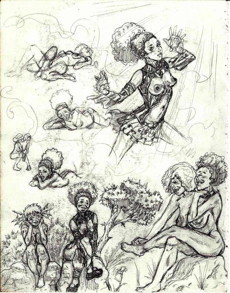 New Ezerea Sketches by BlackZarak