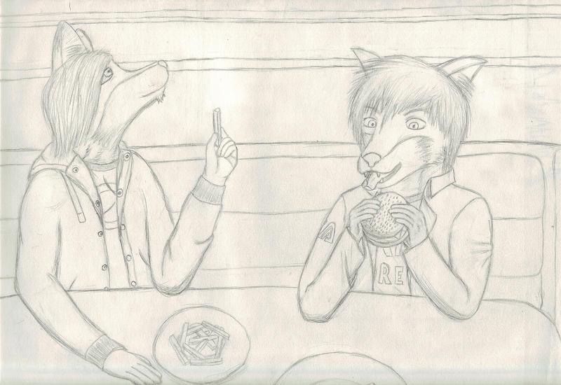 Art Trade: Eddie and Odd by SomeOddGuy