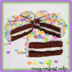Crazy Confetti Chocolate Cake by strawberrywafers