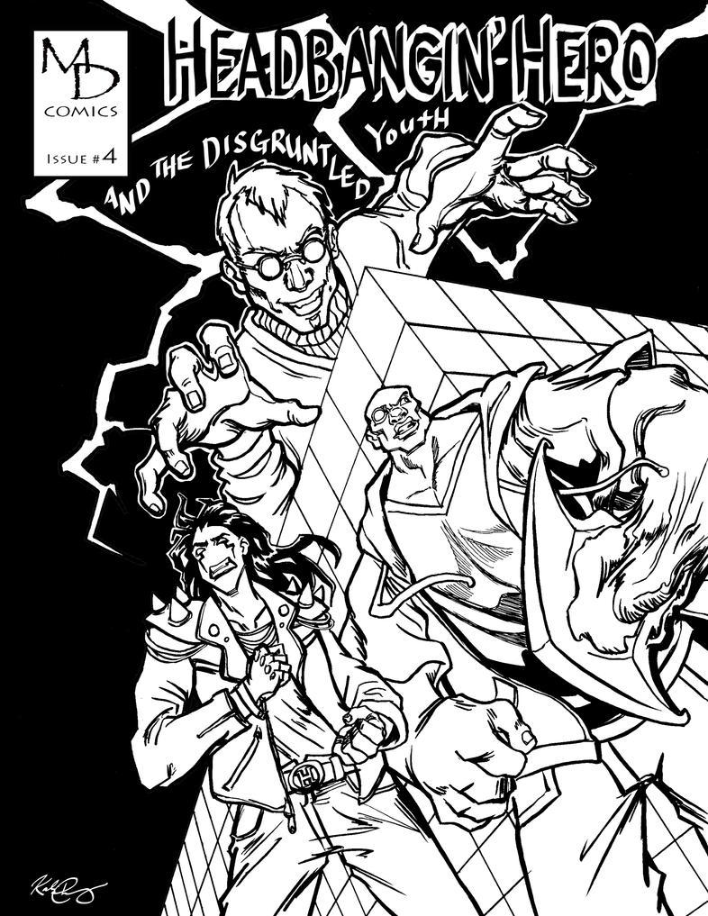 Headbangin' Hero - Issue #4 Cover Art by shinakari
