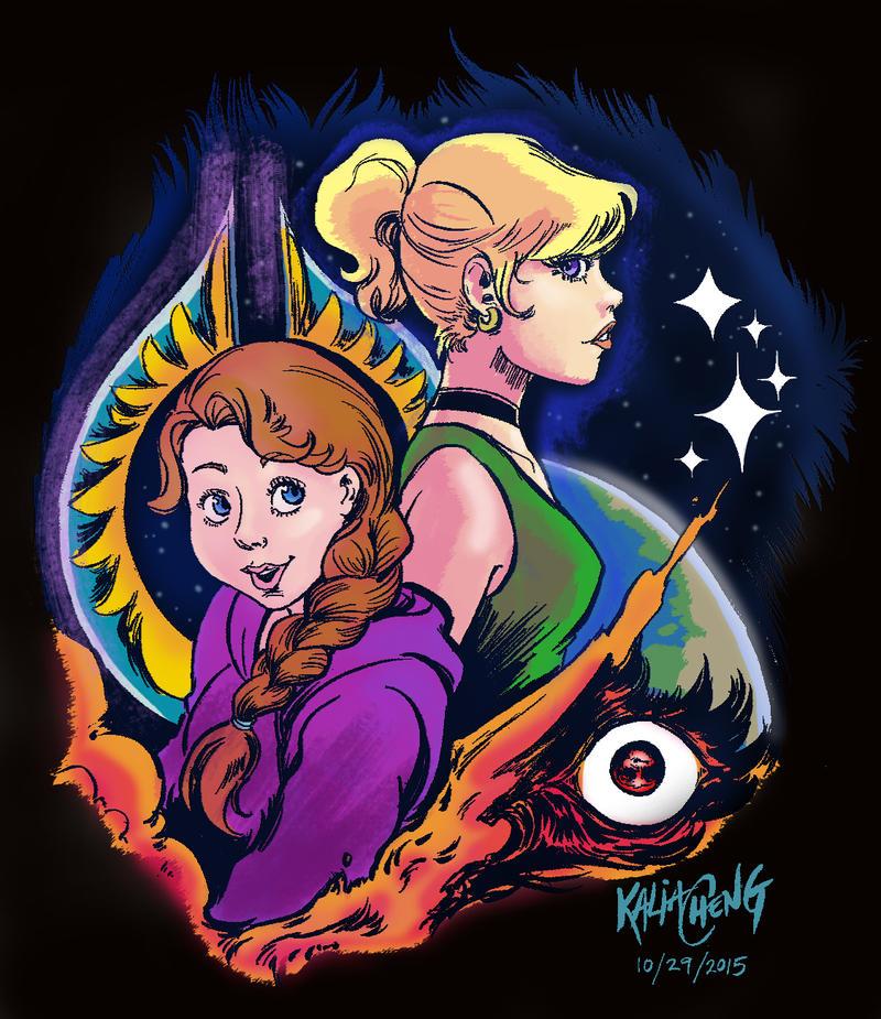 The Inheritors: Darla and Kasey (Black Version) by shinakari