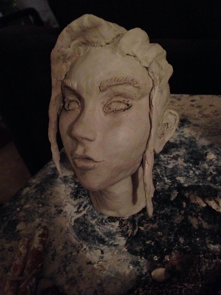 Hugh sculpt WIP 1 by JarrethGolding