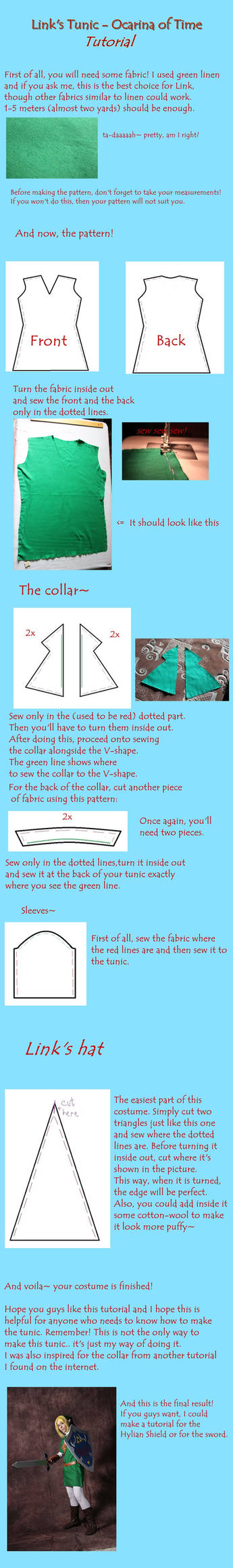 Link tunic tutorial - Ocarina of Time